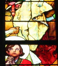 Stain glass prague church