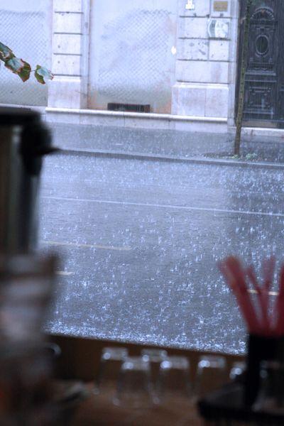 Raining budapest