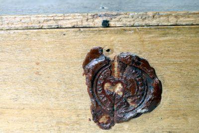 Wax seal on box