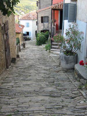 Cobblestone street croatia