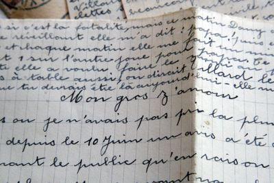 WWII letter France