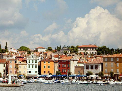 Rovinj croatia facades