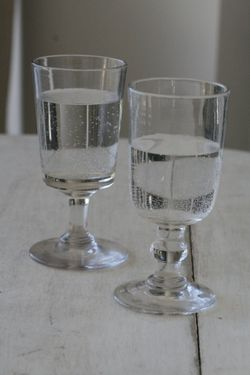old wine glasses