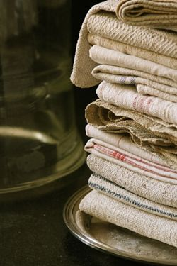 French antique linen and hemp