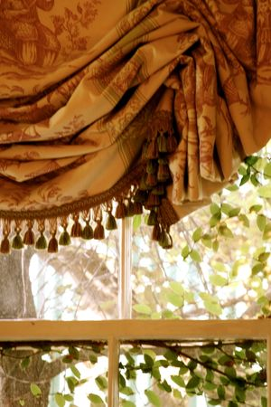 French style toile curtain