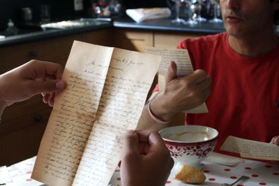Reading WWII letters