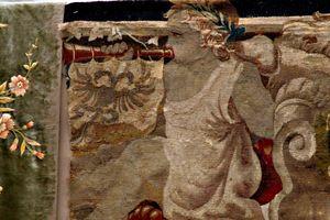 French antique aubusson textile