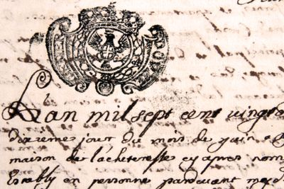 18th century French letter