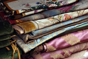 French antique printed silks
