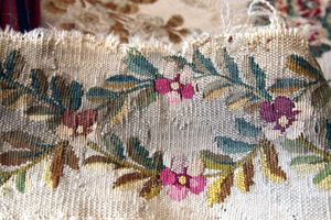 Antique floral textile