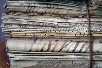 Stack of eighteen century papers