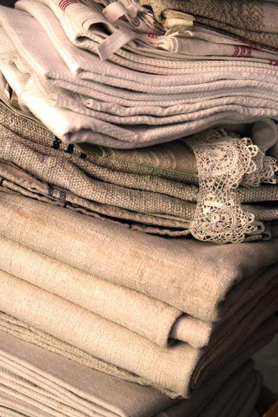 Grain sacks, hemp and linen