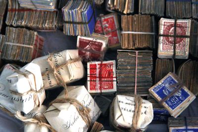 Stacks of stamps