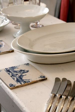 French ironstone platters