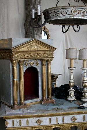 French antique altar piece