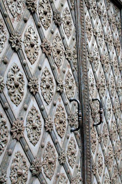 Prague metal doorway