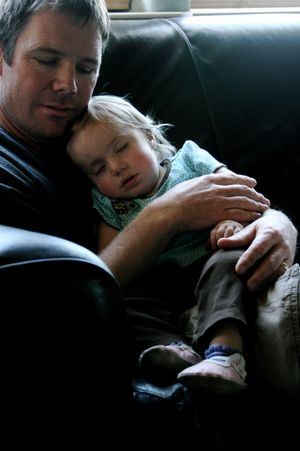 Daisy with her father