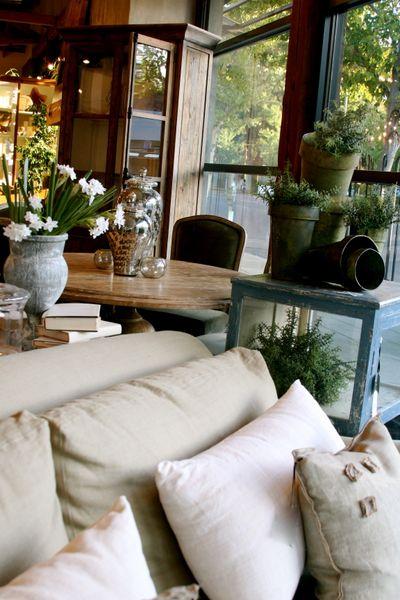hemp and linen covered pillows