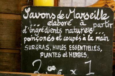 chalkboard sign in French