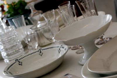 French antique dishes