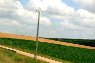 French country side views from the TGV