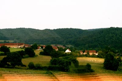 French Countryside as viewed while on the TGV