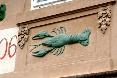 lobster door frame Prague