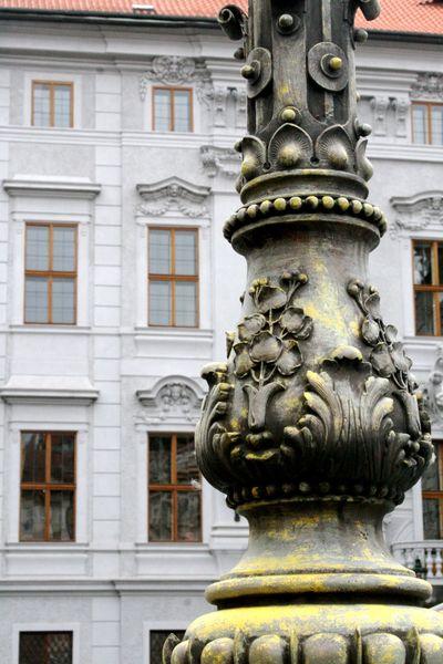lamp post in Prague