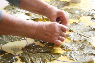 rolling grape leaves