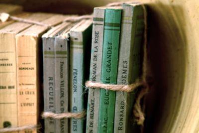 antique paper back books