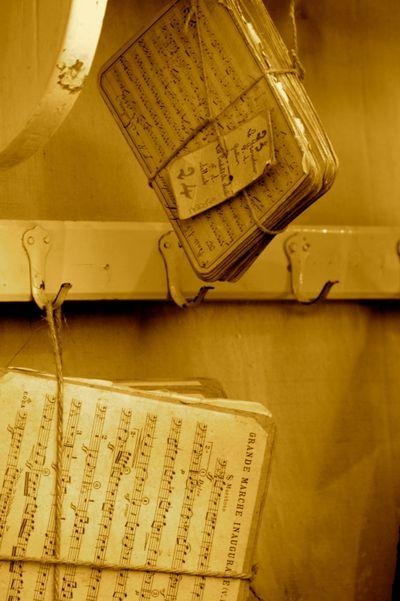 Handprinted music cards