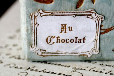 French chocolate label