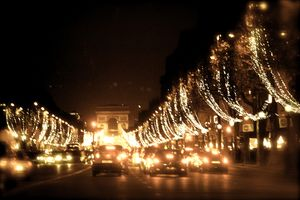 Champs ELYSEES during Christmas at Night