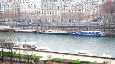 SEINE running along Paris