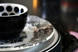 Black---white-dishes