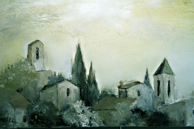 Marcel-painting French landscape