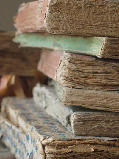 antique paper books