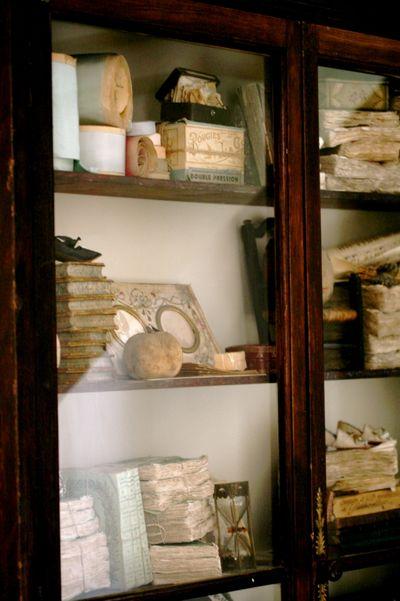 Bookshelf without books