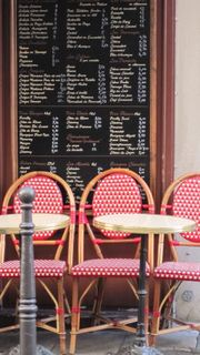 cafe chairs in France