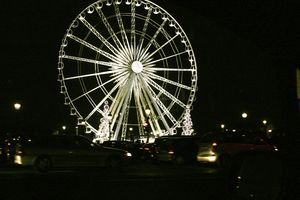 The Ferris wheel in Paris from the car window as we drove by