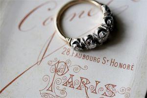 old cut diamond Wedding-ring