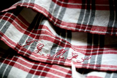 Red-checked-fabric