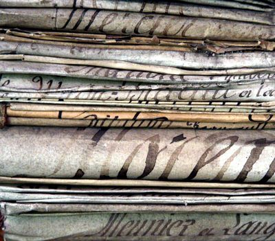 French-antique-documents