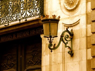 French antique street lamp