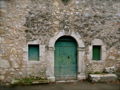 French arched doorway