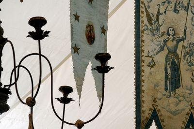 banners overhead