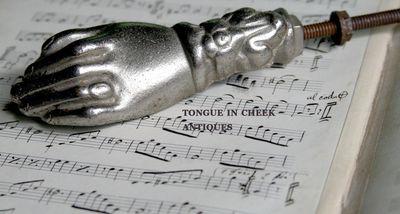 Silver-hand-knocker
