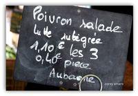 Chalk board French market