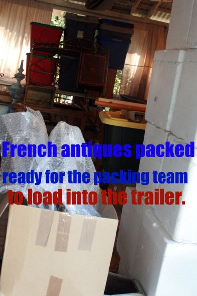 Packed french antiques