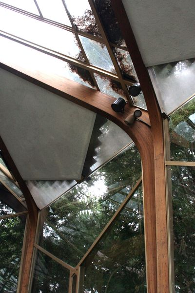 Glass-roof of the wayfarers chapel